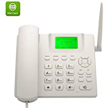 Telefono con Slot Sim GSM bianco - Fisso da tavola/scrivania - per anziani - Tim Vodafone Wind Quadband