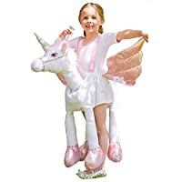 Ride on Unicorn Girls Fancy Dress Animal Fairy Tale Book Day Kids Childs Costume