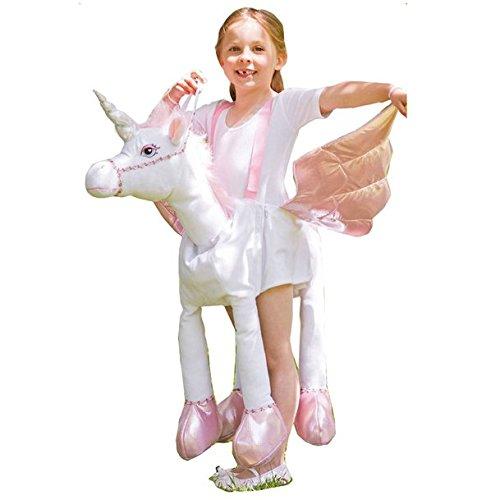 Pony Kostüm Plüsch Kind - Einhorn zum Reiten - Einheitsgröße