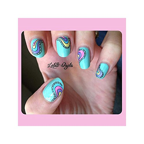 bluesea - Water decal pour ongles - goutte - k_077