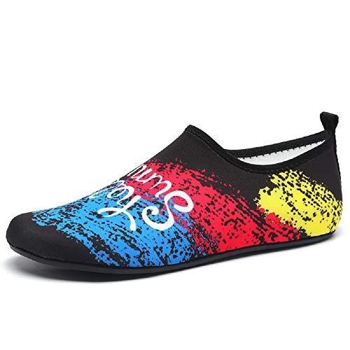 Bangbei scarpe unisex per tutta la famiglia donna uomo acqua mare spiaggia palestra yoga sport (37/38 eu, nero)