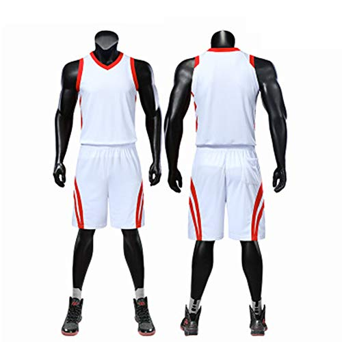 Jersey - Retro Gym Vest Logo Anpassung Bestickte Mesh Basketball Fußball Set Shirt TOP Shorts-F-XXXL - Besticktes Mesh-set