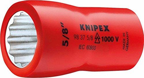 Knipex 98 37 5/8 Steckschlüsseleinsatz 5/8 Zoll, Länge in mm: 46, 1 Stück