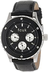 French Connection Ladies Black Strap Watch With Black Multi Dial CD99.14FCX
