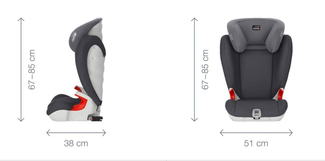 Britax Römer KIDFIX SL BLACK SERIES Group 2-3 (15-36kg) Car Seat - Cosmos Black  Simple installation - soft-latch isofit system Misuse limiting design - intuitively positioned seat belt guides Lightweight - easy to transfer between cars 8