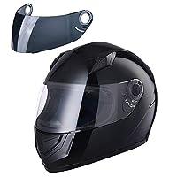 ReaseJoy ECE Flip Up Front Modular Motorcycle Helmet Full/Open Face Motorbike Helmet Black S