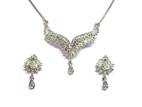 sempre-london-925-silver-plated-designer-united-wings-orianna-pendant-with-earrings-for-gilr-women