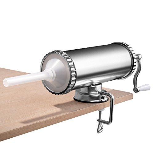 COSTWAY Wurstfüller Wurstmaschine Wurstfüllmaschine Wurstspritze Wurstpresse | inkl. 3 Füllrohre | 3L (Wurst Presse)