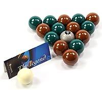 EXCLUSIVE! Aramith Premier SILVER 8 BALL Edition GREEN & BROWN Pool Balls by Aramith