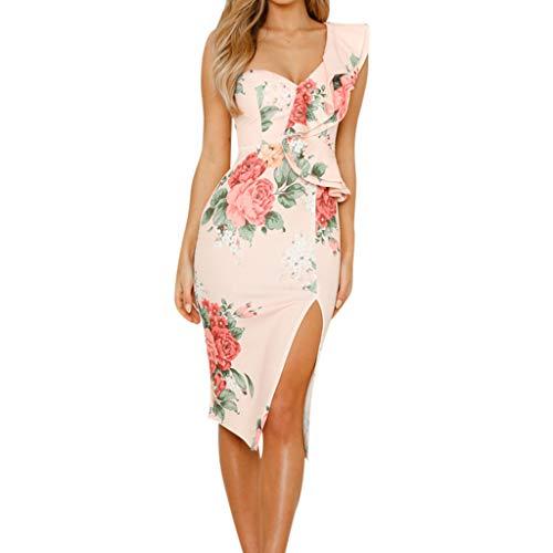 Sanfashion l'ultima moda della signora summer ha arruffato il vestito elegante dal temperamento all'anca per la borsa con stampa floreale della vita