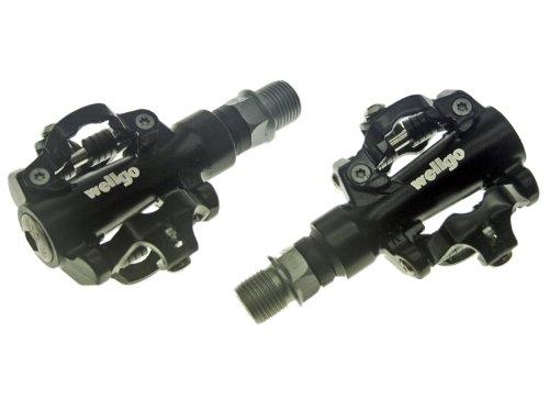 Wellgo MTB Pedale mit Shimano SPD Klick System M94 schw