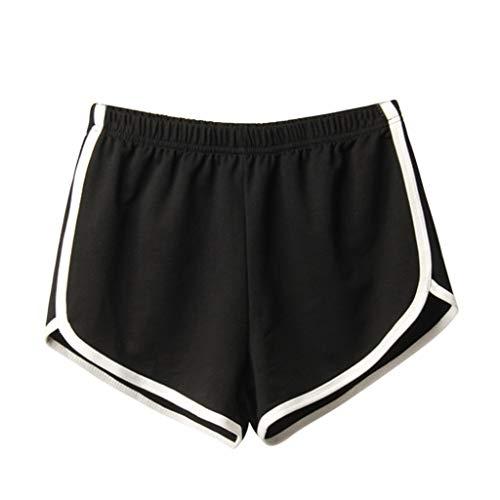 XZDCDJ Capri Hose Damen Sommer Frauen Sommer Sport beiläufige Kurzschluss Strand Kurze Hosen Schwarz,S Crop Capri-jeans