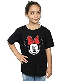 Disney niñas Minnie Mouse Head Camiseta