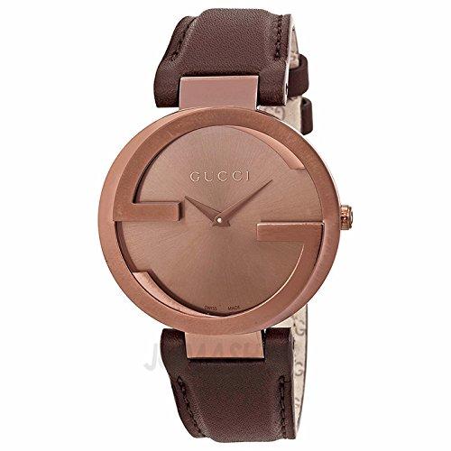 Gucci Gucci enclavamiento G Brown Dial Brown PVD Damas Reloj YA133309