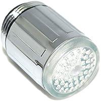 Mengonee Colorido termosensible del gradiente de luz LED Grifo de Agua Corriente cambiante del Color Grifo para baño