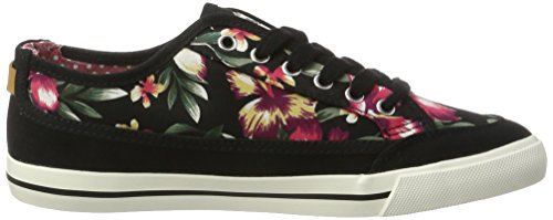 Wrangler Damen Starry Share Sneakers Schwarz (BLACK FLOWERS)