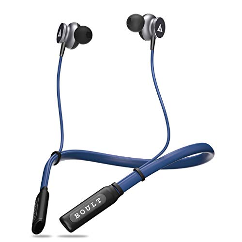 Boult Audio ProBass Curve Neckband in-Ear Wireless Earphones with Latest Bluetooth 5.0 Without Vibration, IPX5 Sweatproof Headphones with Long Battery Life & Flexible Headset with in-Built Mic(Blue) 1