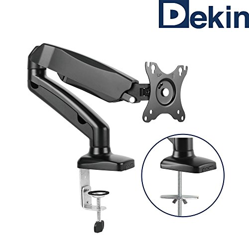 'Dekin Monitor Desk Mount DK201M Displayhalterung Gas Lift for 13inch to 27inch Diagonal Can Hold up to 6.5kg