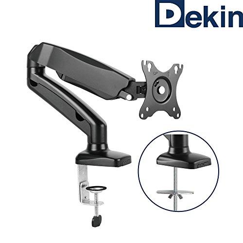 """DEKIN Monitor Tischhalterung DK201M Displayhalterung mit Gasdruckfeder für 13"""" bis 27"""" Zoll Diagonale Belastbarkeit max. 6,5 kg"""