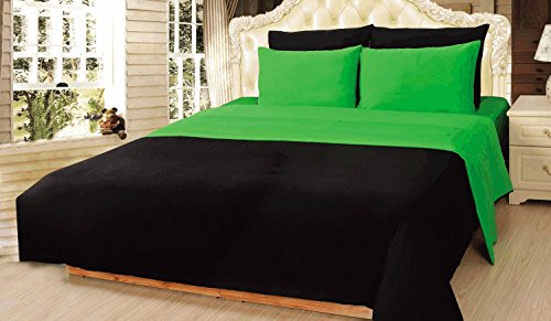 Tache 4–6Stück Solid wendbar Tröster Set in verschiedenen Größen und Farben, baumwolle, grün, Twin