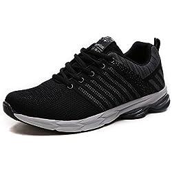 ZapatillasRunningpara Hombre Aire Libre y Deporte Transpirables Casual Zapatos Gimnasio Correr Sneakers Gris 41