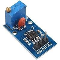 HALJIA módulo de generador de impulsos NE555 frecuencia ajustable 5 - 12 V DC Compatible con Arduino Smart Coche salida de canal único memoria 25 * 13 mm