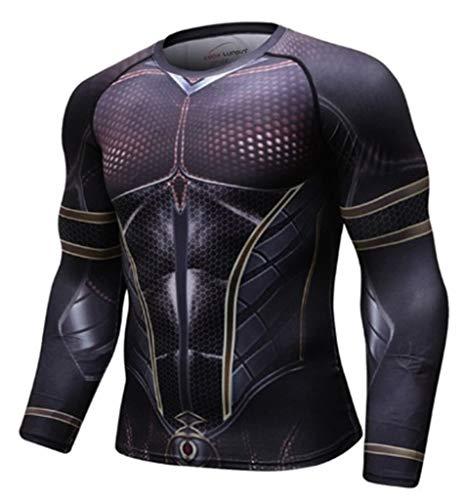 Moit Superhero Camisa de compresión Deportiva para Hombre Fitness Capa Base XXL