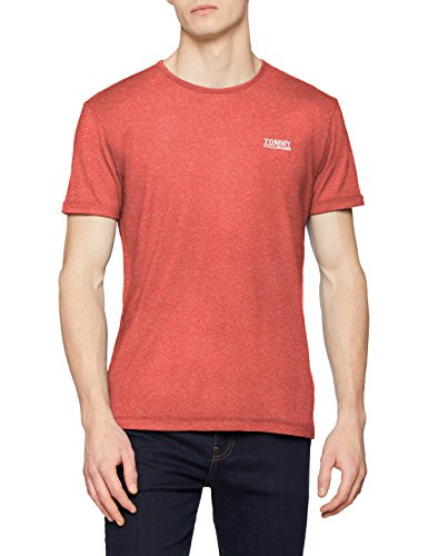 Tommy Jeans Herren Modern Jaspe  Kurzarm  T-Shirt Rosa (Rose Of Sharon 697) Medium
