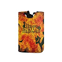 LENNEL Halloween Theme Unique for Bathroom, Bedroom, Clothes Large Storage Bin Laundry Basket Hamper with Handles
