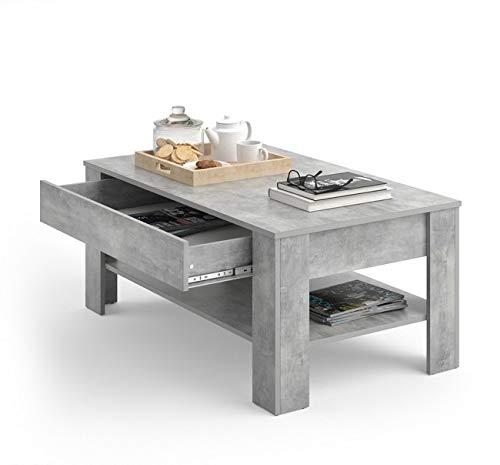 Directachat56 Table Basse Design, Aspect BÉTON, MODÈLE Kiel