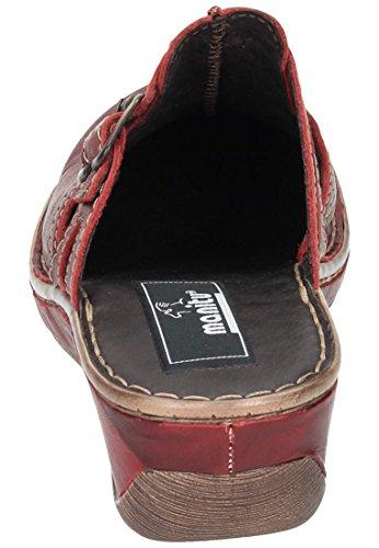 Manitu 900463 Zoccoli donna Rosso (rosso)