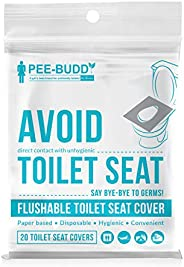 PeeBuddy Flushable and Disposable Paper Toilet Seat Covers to Avoid Direct Contact with Unhygienic Seats - 20