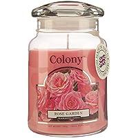 Colony - Barattolo con candela, grande, profumo: rosa da