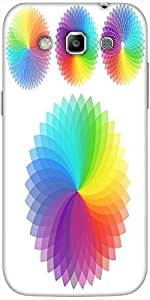 Snoogg Set Of Rainbow Flowers Solid Snap On - Back Cover All Around Protectio...