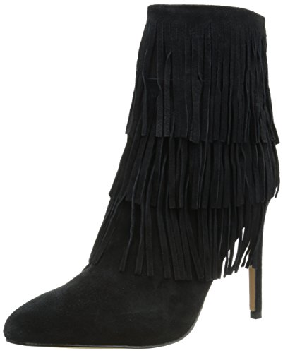 Steve Madden Flappper Daim Bottine Black