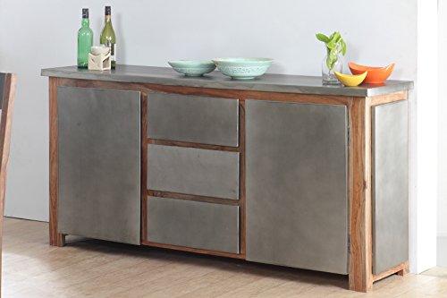 The Wood Times Sideboard Vintage Wohnzimmerschrank Massiv Odisha Sheeshamholz, FSC Zertifiziert, BxHxT 175x85x45 cm - 5