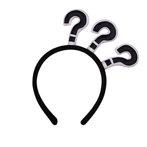 TOOGOO Question amusante marque Bandeau Fete d'Halloween Croix effrayante Bandeau (point d'interrogation)