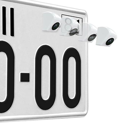 Rückfahrkamera Nachtsicht 170 Grad hintere Ansicht-Kamera wasserdicht und stoßfest Rückansicht Kamera für Auto Weiß