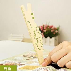 Outil promotionnel de mesure belle Crocodile mesure bois règle droite papeterie cadeau pour les enfants fournitures scolaires