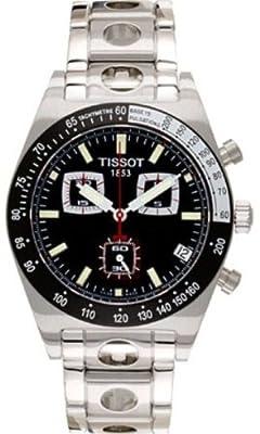 Tissot T91148651 - Reloj de cuarzo para hombre, con correa de acero inoxidable, color negro