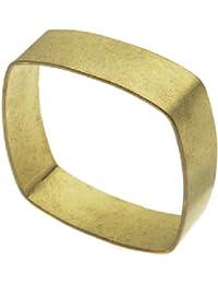 Bracelet Carré Plat Laiton Solide Largeur 19mm, 1 Pièce
