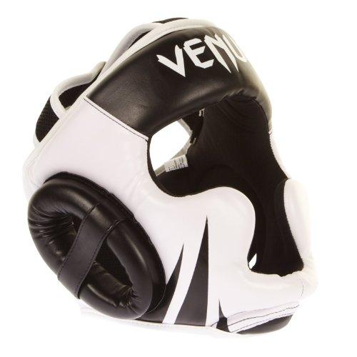VENUM Challenger 2.0 Casco MMA, Unisex Adulto, Negro/Blanco, Talla Única