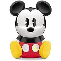 Philips Disney Mickey Mouse - Lámpara de mesa SleepTime, luz blanca cálida, bombilla LED de 2 W, color rojo y negro