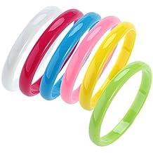 142fd57ac264 OULII Pulseras de plástico de color Brazalete Candy Bracelet Party Favors  (colores al azar)