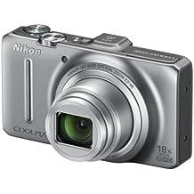 "Nikon Coolpix S9300 Fotocamera Digitale Compatta, 16,1 Megapixel, Zoom 18X, 3200 ISO, LCD 3"", colore: argento"
