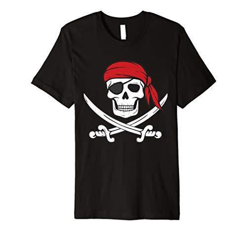 Piraten Shirt Kinder oder Erwachsene Schwerter und Totenkopf Tshirt