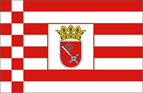Sonia Originelli Fahne Flagge Länder Städte 90 x 150cm Fußball WM Fan Party Farbe Bremen