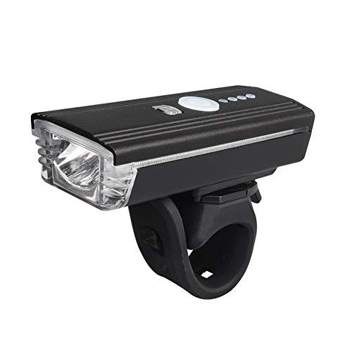 TABN Hochleistungsfahrradscheinwerfer T6 Fahrradscheinwerfer USB-Ladescheinwerfer Nachtfahrscheinwerfer Mit Farblich Abgesetzten Dekorativen Seitenleuchten,Schwarz