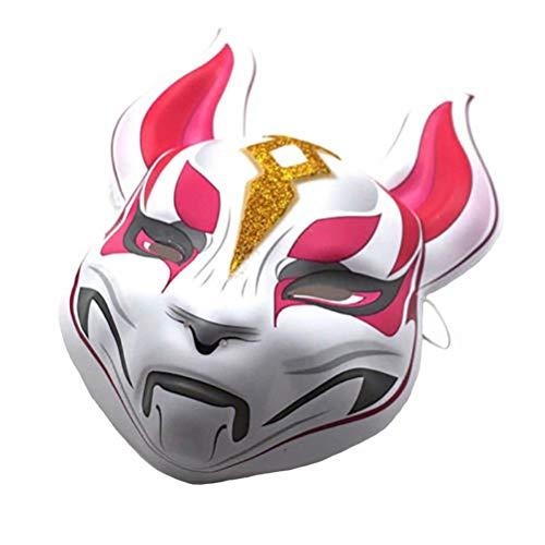 rwachsende Fuchs Drift Maske Natürlich Halloween Weihnachten Cosplay Party Verkleidung Helmet ()