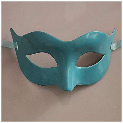 helle Klassische Art-venetianische Maske, Maskerade, Burlesque Ball-Partei verfügbar in Weiß, in Silber, in Blauem oder in Gold (Color : Blue) ()